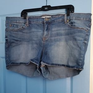 Torrid denim mid-rise shorts